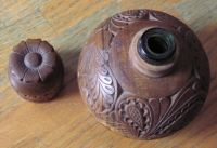 Carved Liquor Flask
