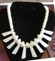 African Style Bone Necklace