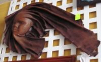 Leather Face Sculpture