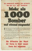 Flyer dropped over Cologne by the RAF prior to WWII bombing