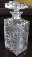 Heavy Crystal Pinwheel Decanter